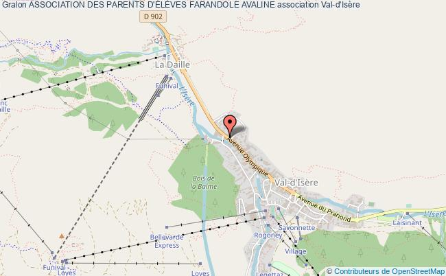 plan association Association Des Parents D'ÉlÈves Farandole Avaline Val-d'Isère