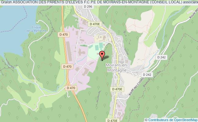 plan association Association Des Parents D'eleves F.c.p.e De Moirans-en-montagne (conseil Local)