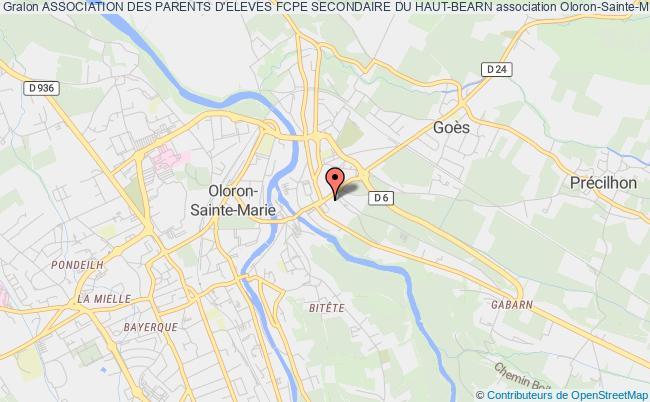 plan association Association Des Parents D'eleves Fcpe Secondaire Du Haut-bearn