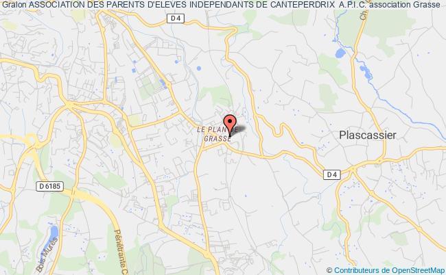 plan association Association Des Parents D'eleves Independants De Canteperdrix  A.p.i.c. Grasse