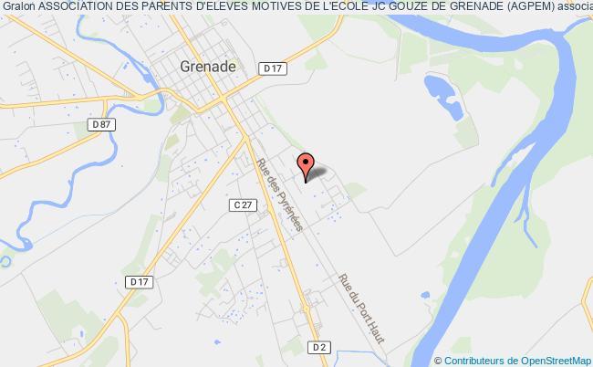 plan association Association Des Parents D'eleves Motives De L'ecole Jc Gouze De Grenade (agpem)