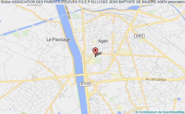plan association Association Des Parents D'eleves P.e.e.p Du Lycee Jean Baptiste De Baudre Agen