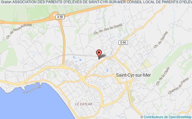 plan association Association Des Parents D?ÉlÈves De Saint-cyr-sur-mer Conseil Local De Parents D?ÉlÈves F.c.p.e (asso F.c.p.e De Saint-cyr-sur-mer)