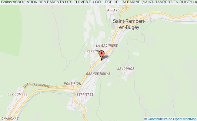 plan association Association Des Parents Des Eleves Du College De L'albarine (saint-rambert-en-bugey)