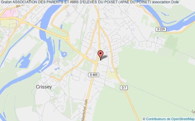 plan association Association Des Parents Et Amis D'eleves Du Poiset (apae Du Poiset) Dole