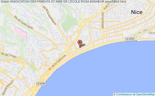 plan association Association Des Parents Et Amis De L'ecole Rosa Bonheur Nice