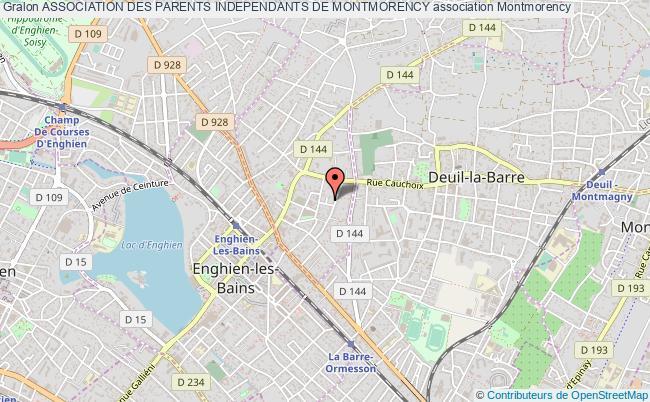 plan association Association Des Parents Independants De Montmorency