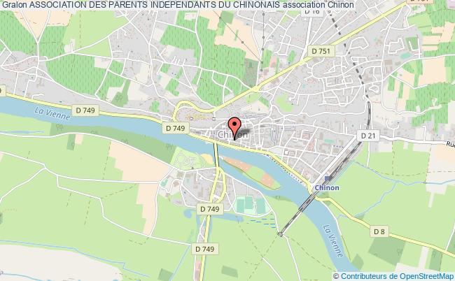 plan association Association Des Parents Independants Du Chinonais Chinon