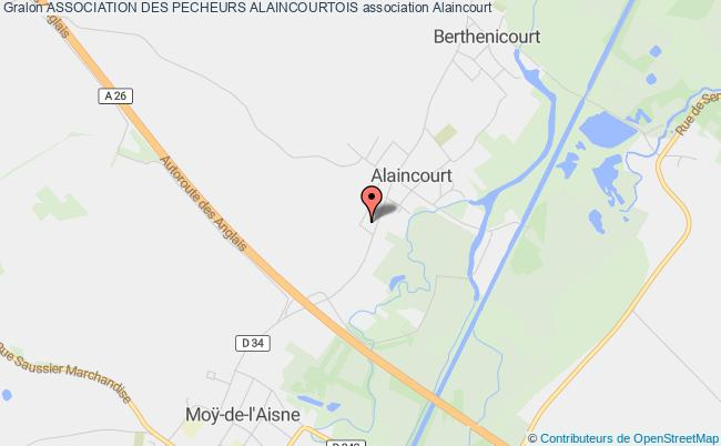 plan association Association Des Pecheurs Alaincourtois