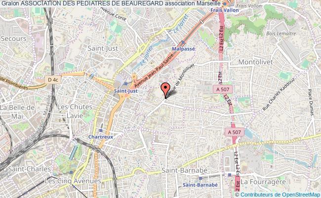 plan association Association Des Pediatres De Beauregard Marseille