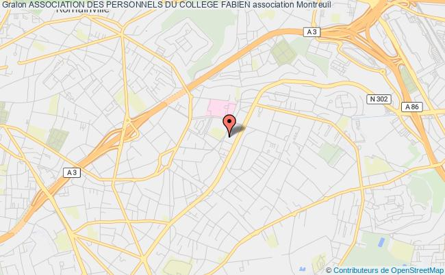 plan association Association Des Personnels Du College Fabien