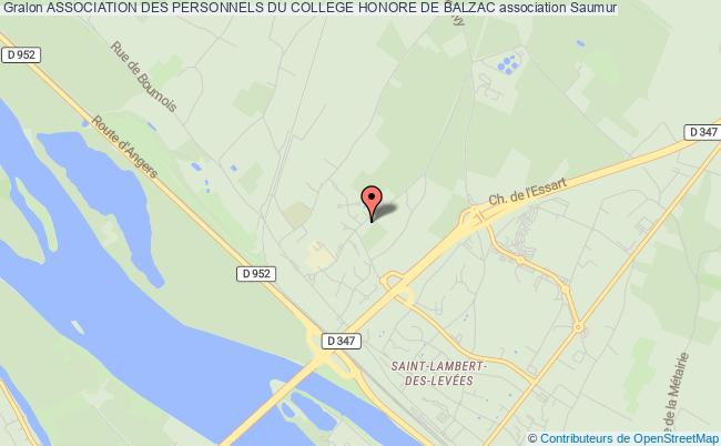 plan association Association Des Personnels Du College Honore De Balzac
