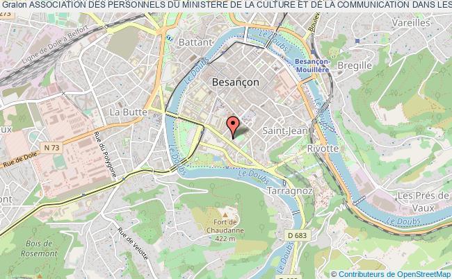 plan association Association Des Personnels Du Ministere De La Culture Et De La Communication Dans Les Departements Du Doubs, Du Jura, De La Haute-saÔne Et Du Territoire De Belfort (apdrac)