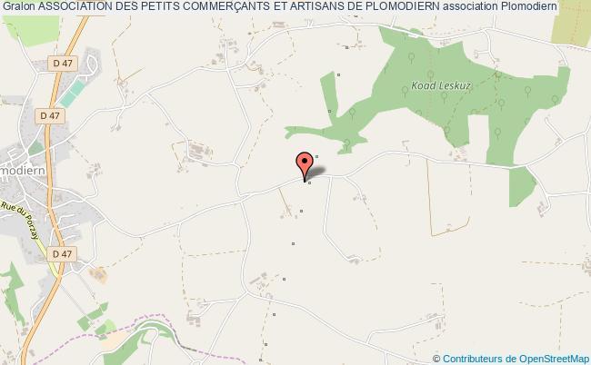 plan association Association Des Petits CommerÇants Et Artisans De Plomodiern