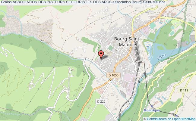 plan association Association Des Pisteurs Secouristes Des Arcs