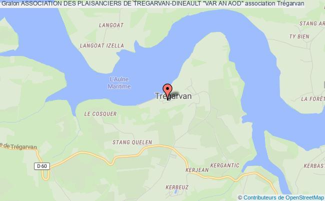 """plan association Association Des Plaisanciers De Tregarvan-dineault """"var An Aod"""""""