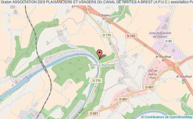 plan association Association Des Plaisanciers Et Usagers Du Canal De Nantes A Brest (a.p.u.c.)