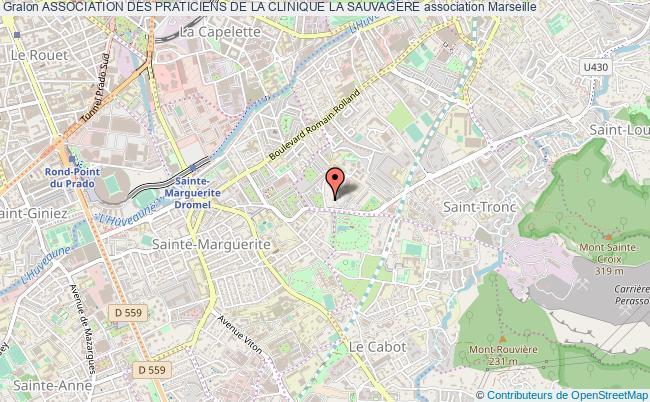 plan association Association Des Praticiens De La Clinique La Sauvagere