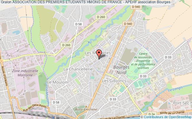 plan association Association Des Premiers Etudiants Hmong De France - Apehf Bourges