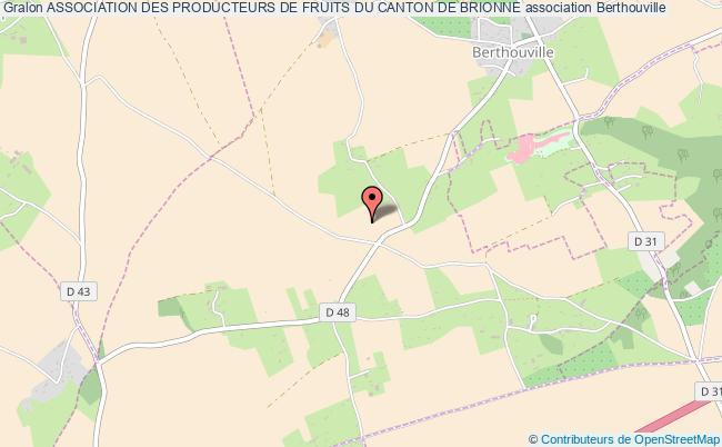 plan association Association Des Producteurs De Fruits Du Canton De Brionne