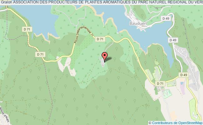 plan association Association Des Producteurs De Plantes Aromatiques Du Parc Naturel Regional Du Verdon