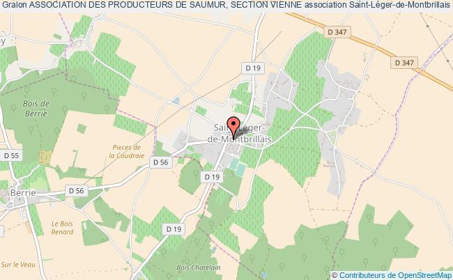 plan association Association Des Producteurs De Saumur, Section Vienne