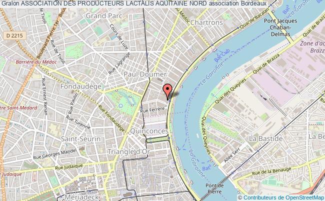plan association Association Des Producteurs Lactalis Aquitaine Nord