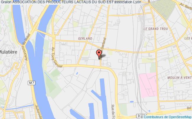 plan association Association Des Producteurs Lactalis Du Sud Est