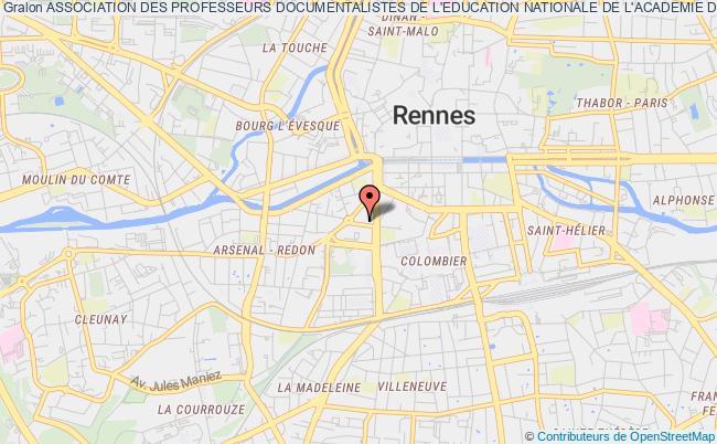 plan association Association Des Professeurs Documentalistes De L'education Nationale De L'academie De Rennes - Apden Bretagne