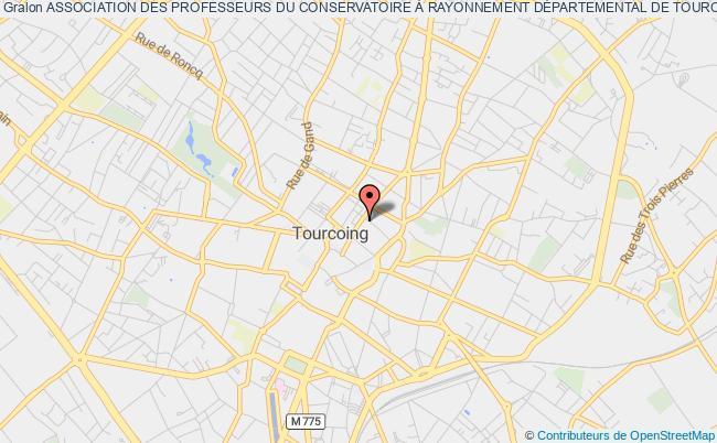 plan association Association Des Professeurs Du Conservatoire À Rayonnement DÉpartemental De Tourcoing