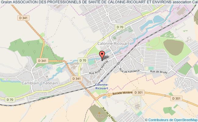plan association Association Des Professionnels De SantÉ De Calonne-ricouart Et Environs