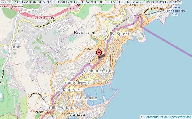 plan association Association Des Professionnels De Sante De La Riviera Francaise