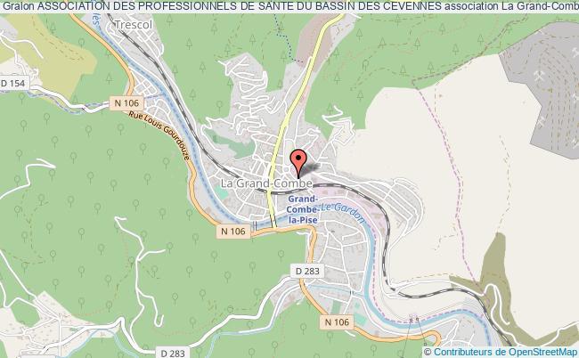 plan association Association Des Professionnels De Sante Du Bassin Des Cevennes