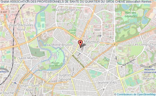 plan association Association Des Professionnels De Sante Du Quartier Du Gros Chene Rennes