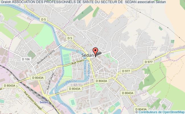 plan association Association Des Professionnels De Sante Du Secteur De  Sedan Sedan
