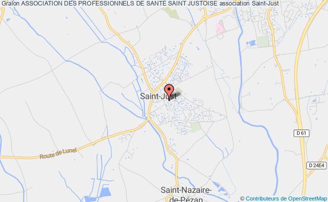 plan association Association Des Professionnels De SantÉ Saint Justoise