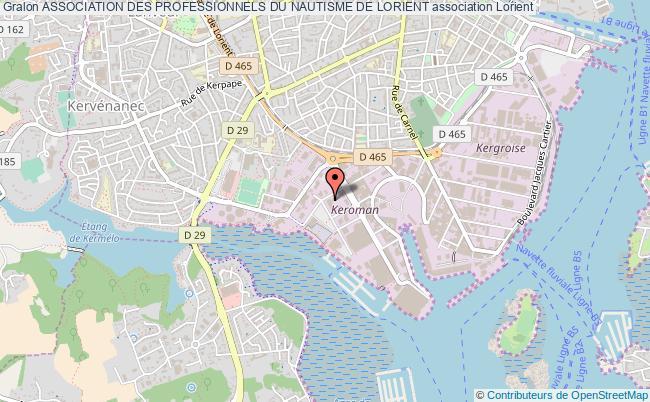 plan association Association Des Professionnels Du Nautisme De Lorient