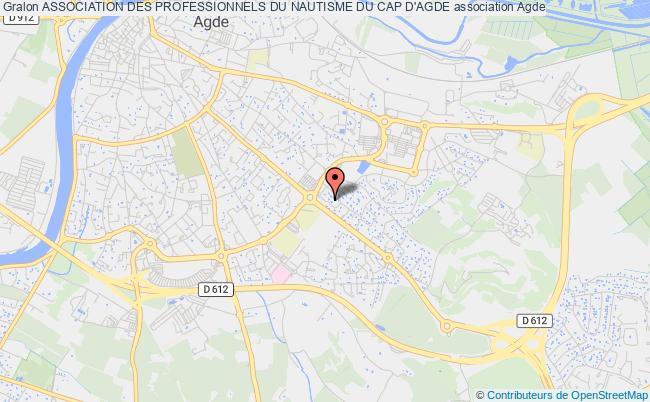 plan association Association Des Professionnels Du Nautisme Du Cap D'agde Agde