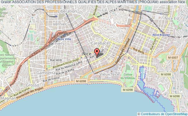 plan association Association Des Professionnels Qualifies Des Alpes Maritimes (proquam)