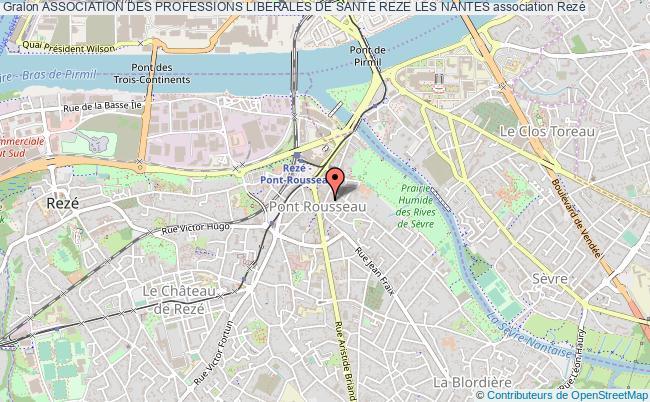 plan association Association Des Professions Liberales De Sante Reze Les Nantes
