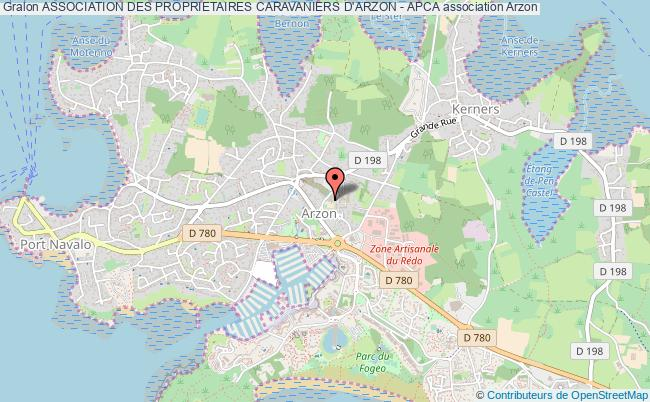 plan association Association Des Proprietaires Caravaniers D'arzon - Apca