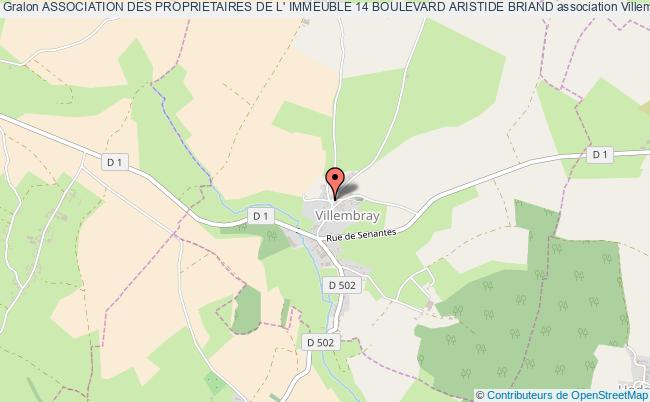 plan association Association Des Proprietaires De L' Immeuble 14 Boulevard Aristide Briand