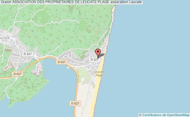 plan association Association Des Proprietaires De Leucate Plage Leucate