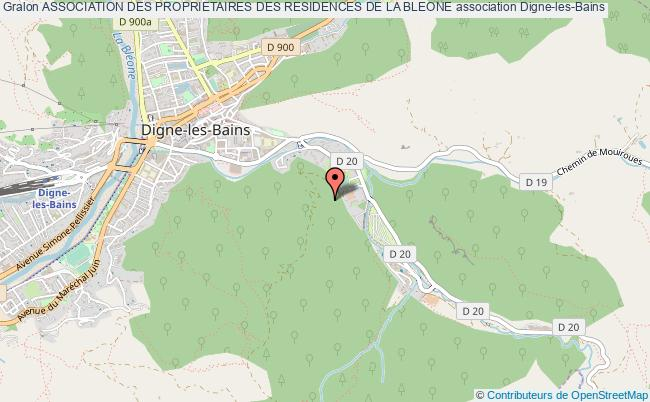 plan association Association Des Proprietaires Des Residences De La Bleone