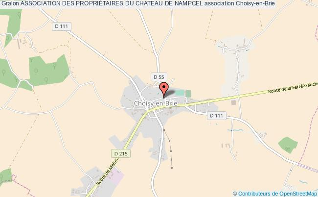 plan association Association Des PropriÉtaires Du Chateau De Nampcel Choisy-en-Brie