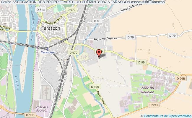 plan association Association Des Proprietaires Du Chemin 31087 A Tarascon