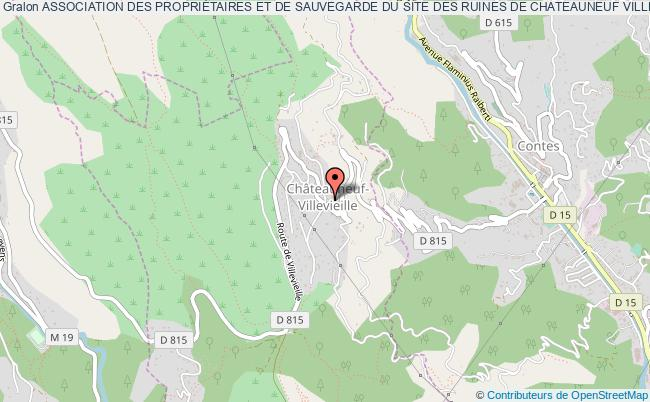 plan association Association Des PropriÉtaires Et De Sauvegarde Du Site Des Ruines De Chateauneuf Villevieille
