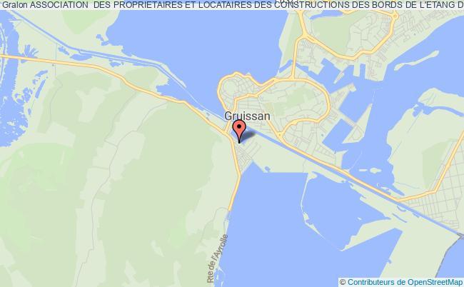 plan association Association Des Proprietaires Et Locataires Des Constructions Des Bords De L'etang De L'ayrolle Narbonne