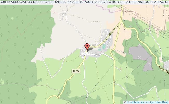 plan association Association Des Proprietaires Fonciers Pour La Protection Et La Defense Du Plateau De Retord Injoux-Génissiat