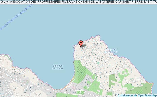 plan association Association Des Proprietaires Riverains Chemin De La Batterie  Cap Saint-pierre Saint-tropez